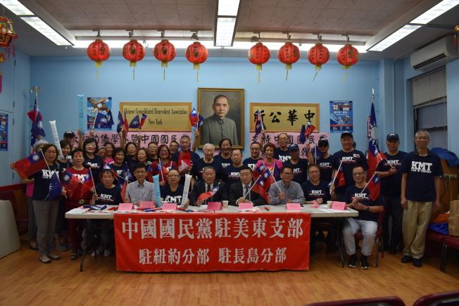 國民黨駐美東支部5日強調,日前成立的「大紐約僑學界支持韓國瑜競選中華民國總統後援會」擁有授權。(記者顏嘉瑩/攝影)