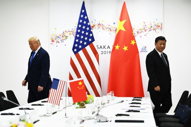 川普總統與習近平主席6月底G20大阪峰會營造的友好氣氛,完全破壞消失。(Getty Images)