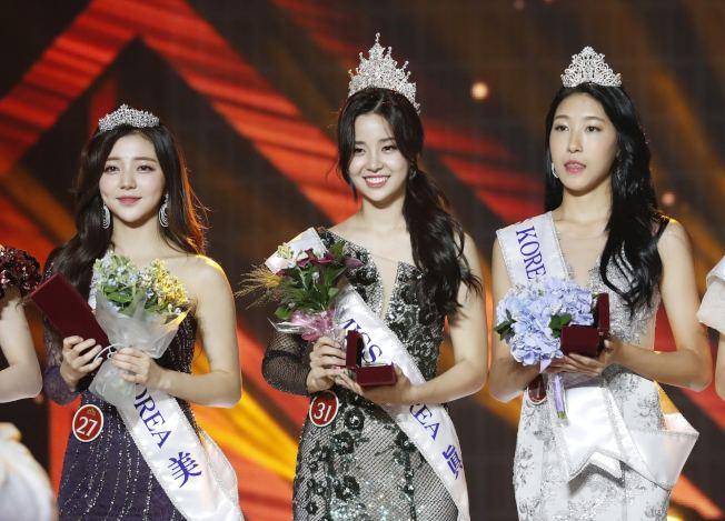 日韓之間展開貿易戰,引起韓國人反日情緒高漲,有七名南韓小姐集體拒絕到日本參加選美比賽。   圖中為2019年度南韓小姐冠軍。(VCG)