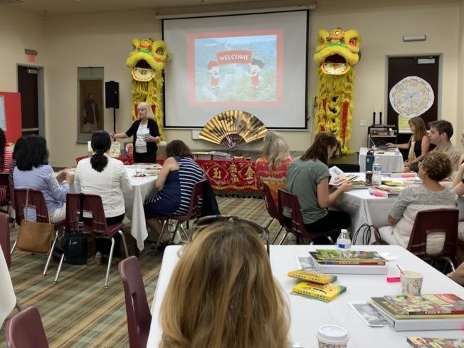 中華文化主流教師研習會由加州州立大學富樂頓分校與爾灣公立學校基金會共同協辦。(南海岸中華文化中心提供)