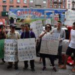 聲訴華人業主逼遷華人 顯利街十多戶租客街頭抗議