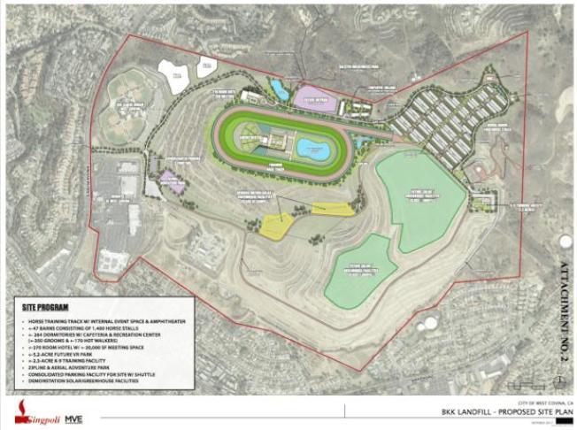 誠保利集團公布的改造BKK舊垃圾場計畫圖。(電腦畫面)
