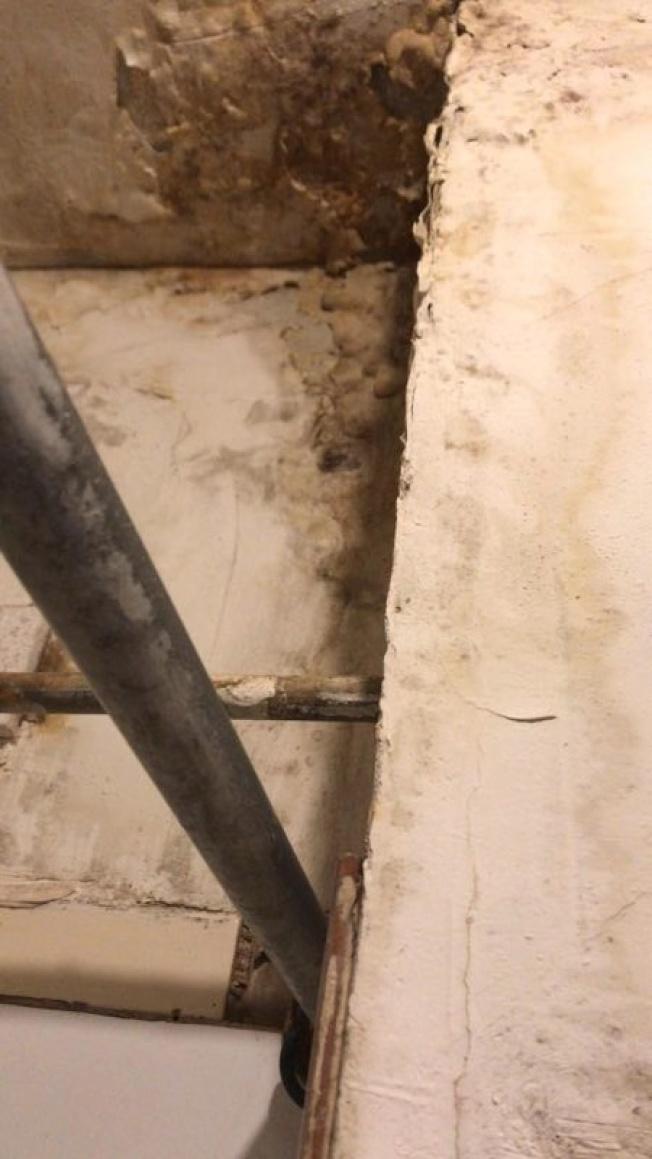黃寶泰的房子可看見四處長霉,屋況相當差。(黃寶泰提供)