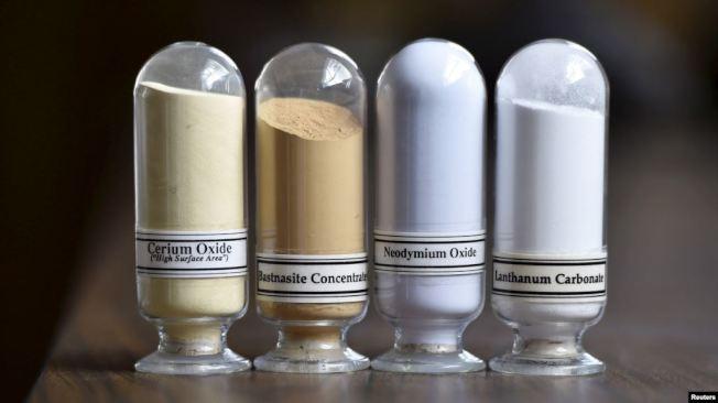 稀土礦物樣品。(路透資料照片)