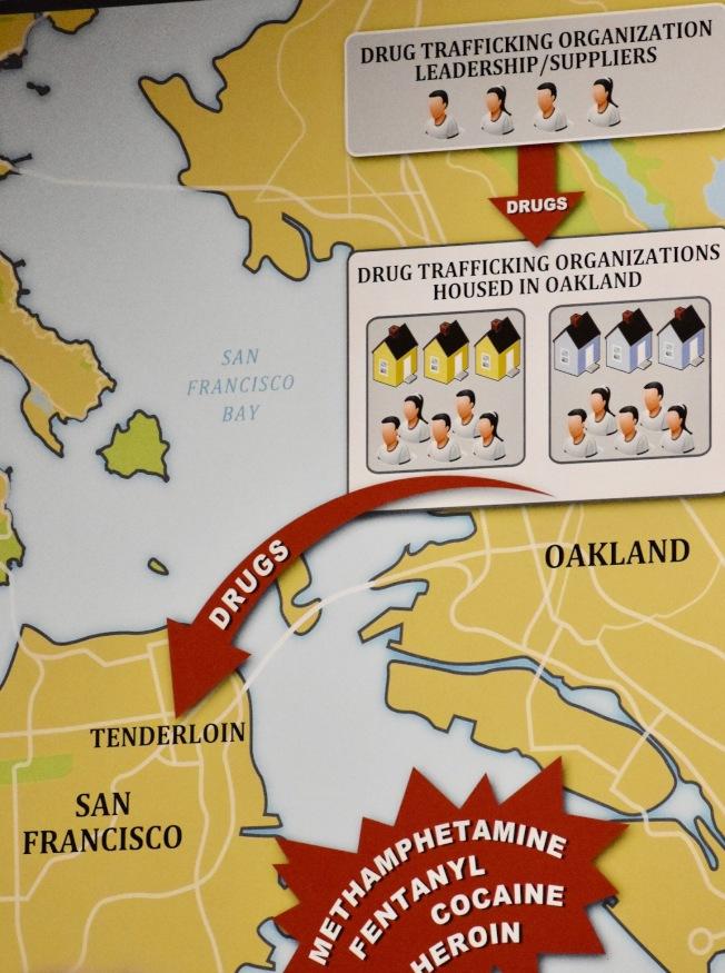 聯邦當局顯示田德隆區毒品的來源,主要來自屋崙,也是分銷中心。(記者李秀蘭/攝影)