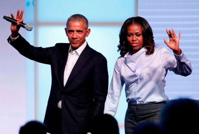 前總統歐巴馬夫婦2007年為兩女兒存529計畫。(Getty Images)