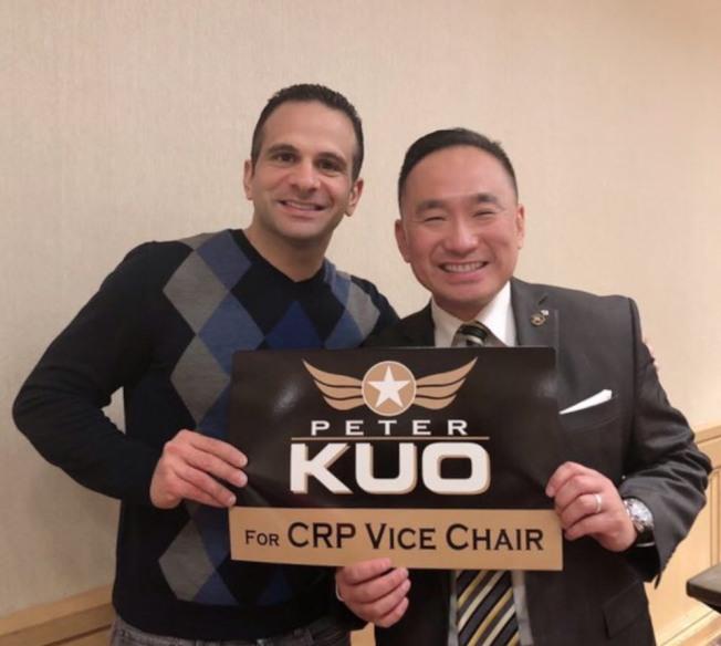 加州共和黨華裔副主席郭宗政(右)。(照片由郭宗政提供)