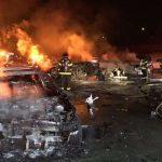 南灣四車連環撞引發大火 1死2重傷塞車數哩
