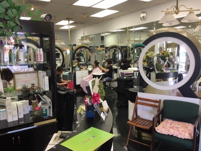 核桃市South Brea Canyon上的韓裔美髮店Adams Hair Art被歹徒破門闖入,所幸沒有損失。(記者楊青/攝影)