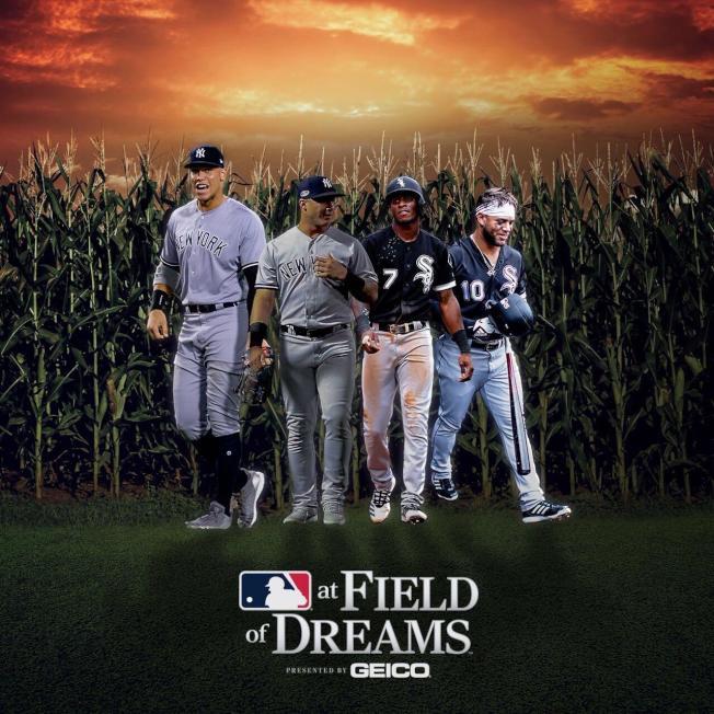 白襪與洋基將在1989年棒球電影「夢幻成真(Field of Dreams)」拍攝場景交手。(取材自白襪推特)