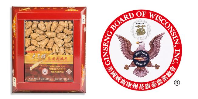 消費者需認準太子牌包裝上的威州參農的老鷹徽號認證,才可確保買到真正威州培植的花旗參。