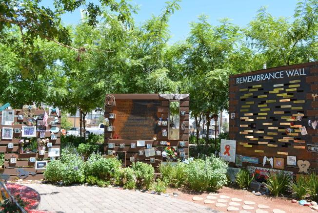 拉斯維加斯屠殺事件遇害者紀念公園。(記者馮鳴台╱攝影)