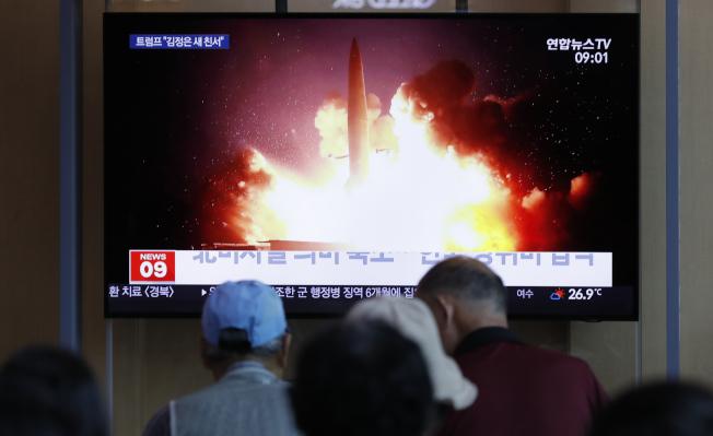 北韓當地時間10日清晨再度試射短程飛彈。美聯社
