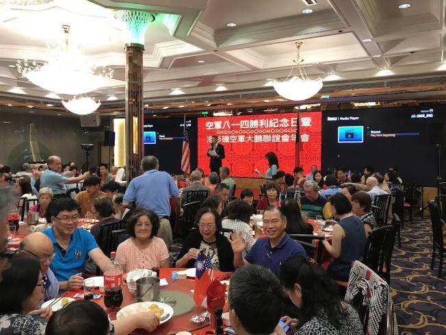 中華民國空軍八一四勝利82周年紀念日暨洛杉磯空軍大鵬聯誼會成立42周年年會,在羅斯密市舉行。(記者啟鉻/攝影)