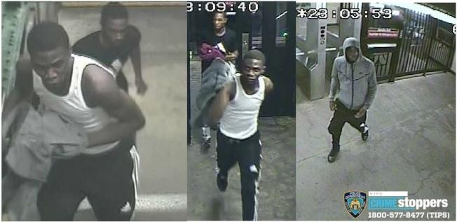 两名非洲裔男子在布碌仑华社抢劫多起。(警方提供)