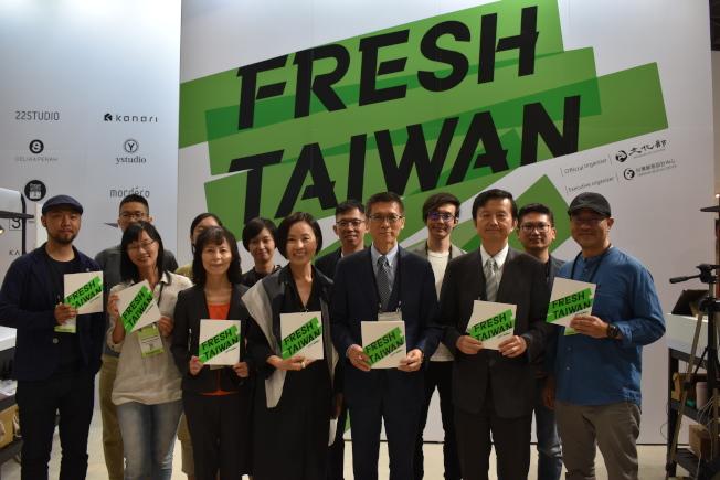 「2019紐約國際禮品展」11日在賈維茨中心開幕,Fresh Taiwan台灣館今年帶來十家台灣品牌公司參展。(記者顏嘉瑩/攝影)