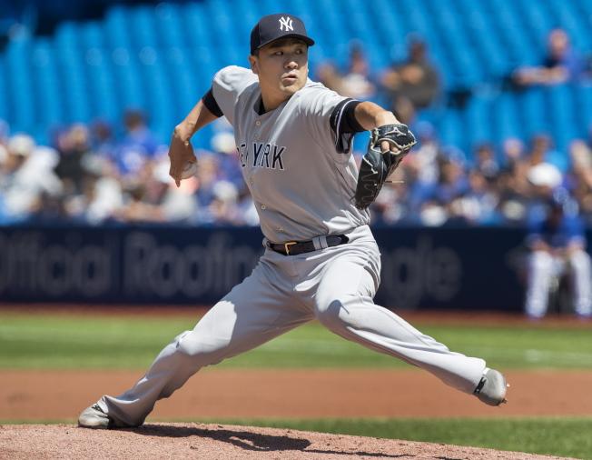 田中將大成為現役勝投最多的日籍投手。(美聯社)
