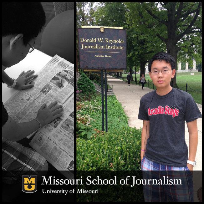 密蘇里大學新聞學院華裔生吳光恩滿懷熱情追求新聞。(吳光恩提供)
