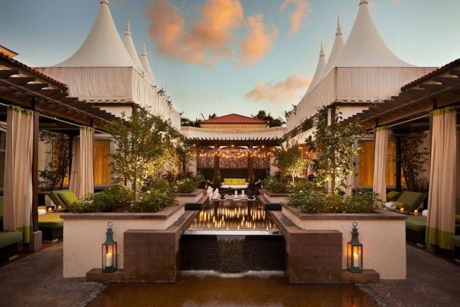 棕櫚灘(Palm Beach)棕櫚海灘度假村(Preferred Hotels & Resorts)的EAU SPA獲第五名,水療中心擁有4萬2,000平方英尺的休閒空間。(Preferred Hotels&Resorts提供)