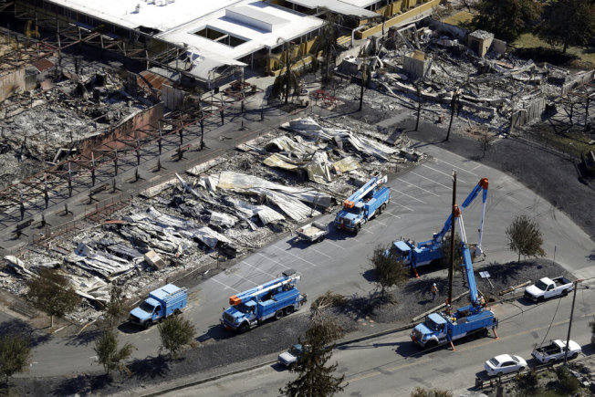 2017年和2018年山火受災戶可以開始向太平洋瓦電索賠。(美聯社)