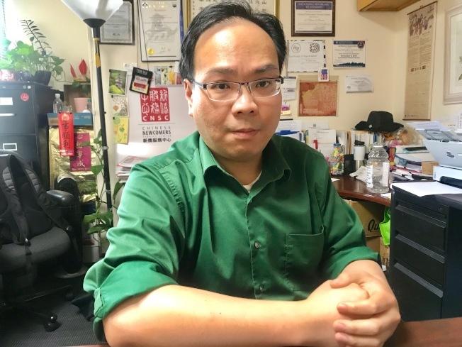 新僑服務中心行政主任陳浩源擔憂「公共負擔」政策會讓華人新移民造成恐慌。(本報檔案照,記者黃少華╱攝影)