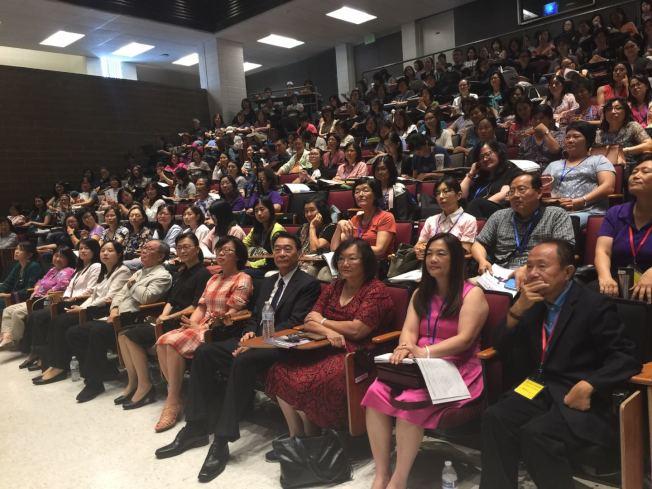 250多位南加州中文學校代表出席夏季教學研討會。(記者尚頴╱攝影)