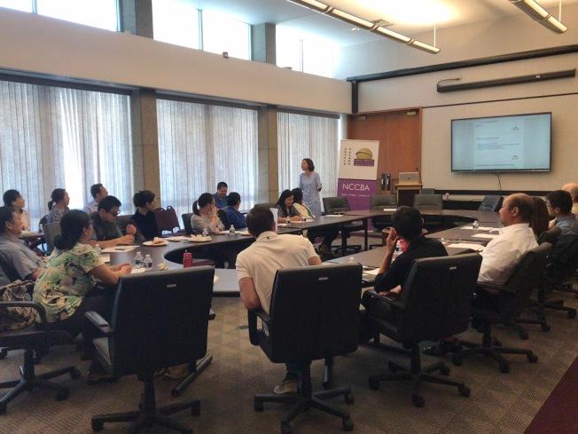北卡華人企業協會(NCCBA)舉行溝通講座。(記者王明心/攝影)