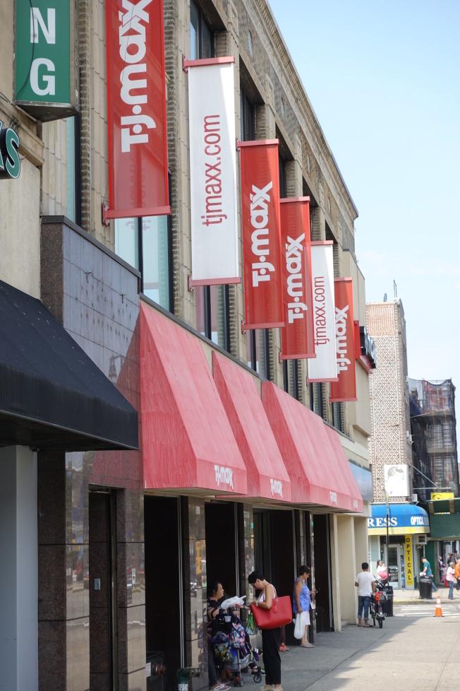 TJ Maxx位於貝瑞吉86街,方便居民購物。(記者金春香/攝影)