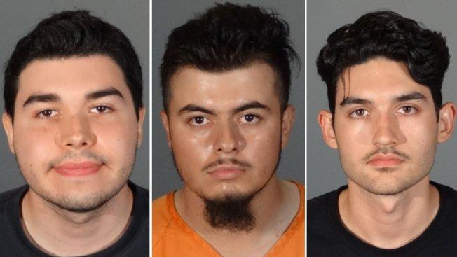 嫌犯莫蘭(左起)、沙迪瓦、克萊斯特被捕大頭照。(蒙地貝婁市警局提供)