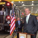 橙線新車上路 貝克剪綵:MBTA重要轉折點