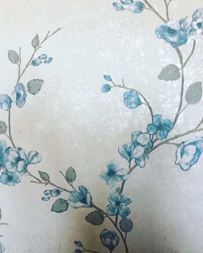 壁紙的花色變化可讓房間擁有不同的個性。(記者張宏/攝影)