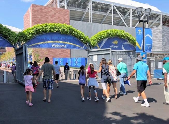 美網球迷周期間,民眾可免費入場看球、參與活動。(記者朱蕾/攝影)