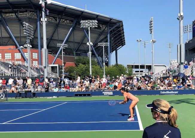 美網會外賽免費入場。(記者朱蕾/攝影)
