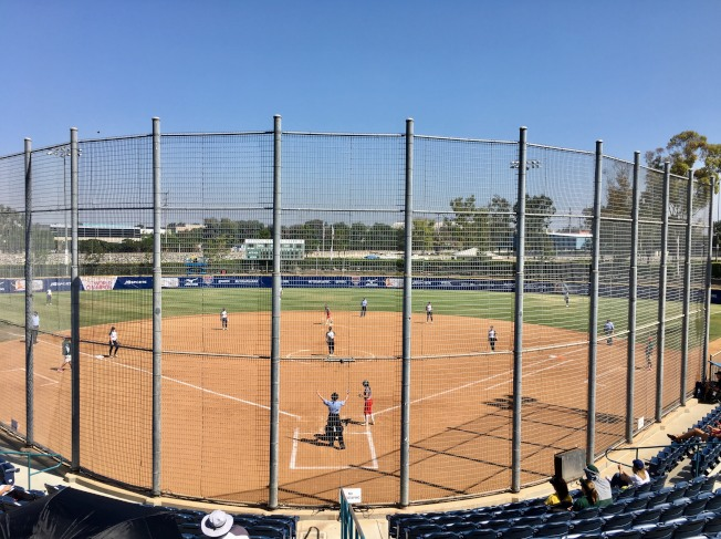 第13屆世界棒壘球總會U-19女壘世界盃大賽在爾灣進行。(記者尚穎/攝影)
