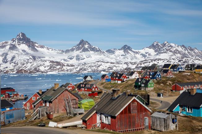 格陵蘭島景色壯麗,遠方冰川終年不化。(路透)