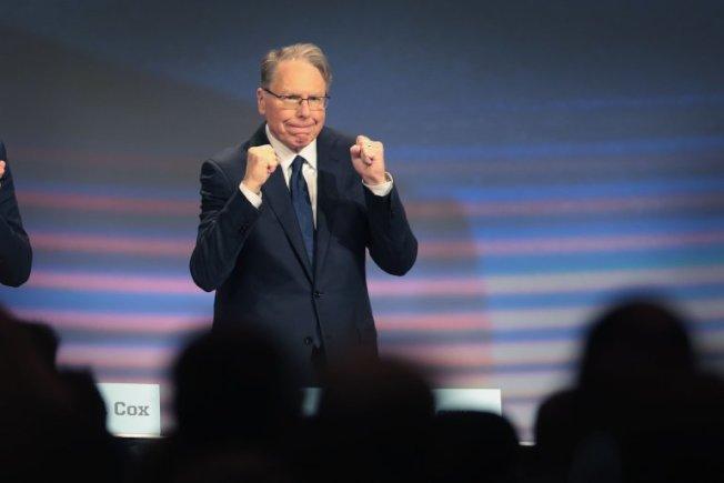 拉皮爾4月27日出席全國步槍協會年會。(Getty Images)