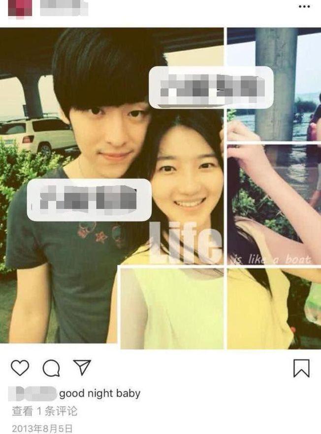 鄧倫過去交往的女友照片曝光,引發熱議。(取材自微博)