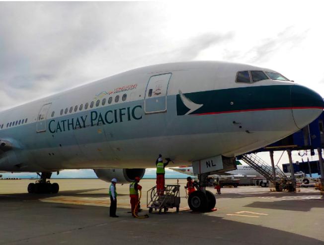 國泰航空官網聲明,國泰航空表態反對暴力。圖:國泰航空資料照片