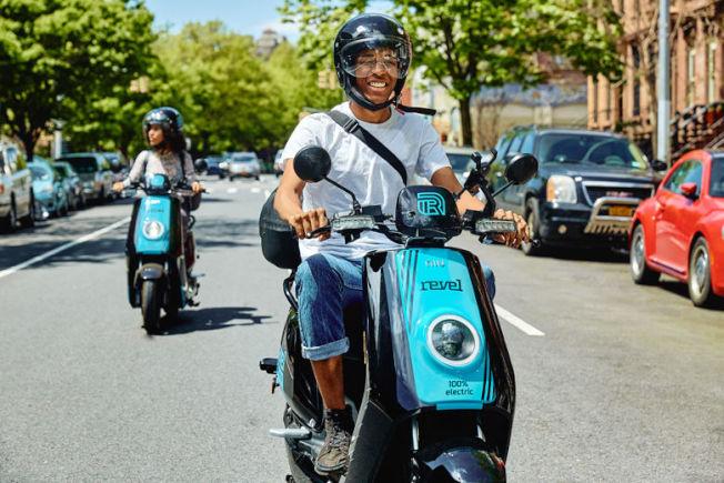 Revel共享電動摩托車將於本周末進入華盛頓特區。(Revel提供)