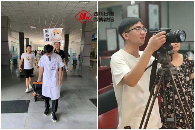 主角醫師陳小敏(右圖)花四天時間拍攝。(取材自澎湃新聞)