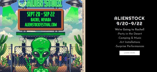 闖禁區看外星人活動改成三天節慶會。(網路圖片)