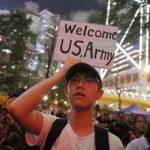 香港大學生集會 籲英美支援 中學生醞釀 逢周一罷課