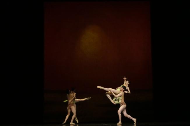 廣州芭蕾舞團在林肯中心表演洛神和布蘭詩歌。(記者金春香/攝影)