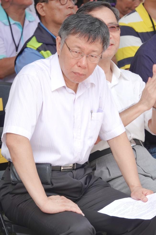 對「郭柯王」結盟是否破局,台北市長柯文哲說,過去沒有彼此合作過,有些東西也許需要磨合。(記者林伯東/攝影)