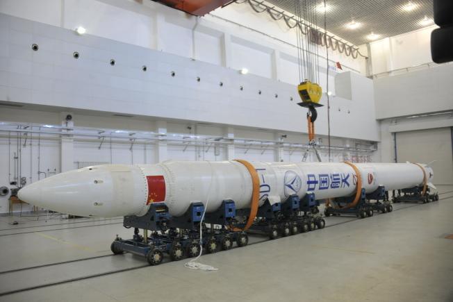捷龍一號總長19.5米,是中國體積最小、重量最輕的固體火箭。(中新社)