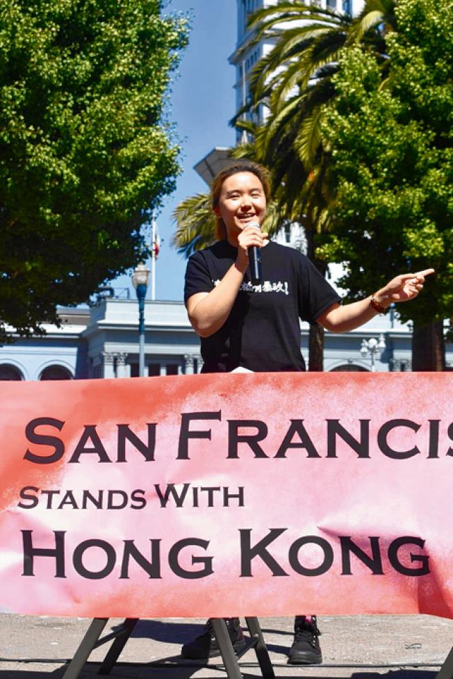 黃希憫要求國際社會支持香港爭取民主自由。(記者黃少華/攝影)
