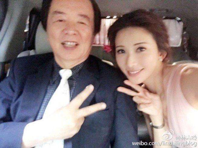 林志玲與爸爸林繁男。(取材自微博)