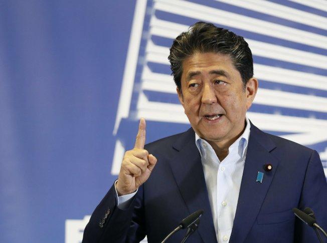 日本首相安倍晉三。歐新社