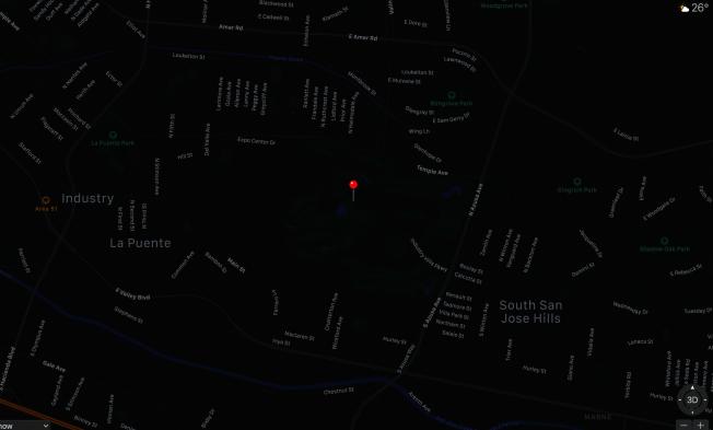 17晚的槍擊事件發生在Dwight D. Eisenhower 高爾夫球場附近的居民區。(蘋果地圖)