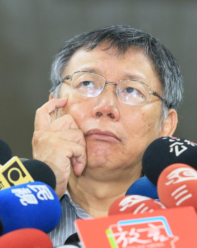 台北市長柯文哲。(記者潘俊宏/攝影)